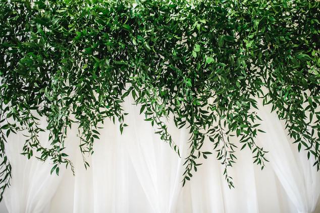 Foliage curtain backdrop