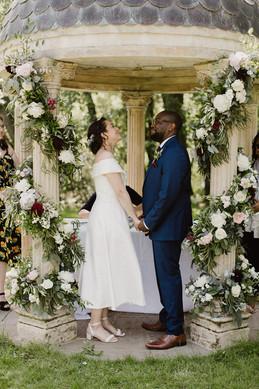 Wedding temple floral garlands