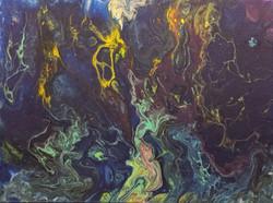 Cosmic Rivers Acrylic 9'x12'.
