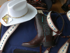 This weeks Combo is on sale, white hat $39.90, Gorgeous Ariat boots size 8 only $329, now $260., Hac
