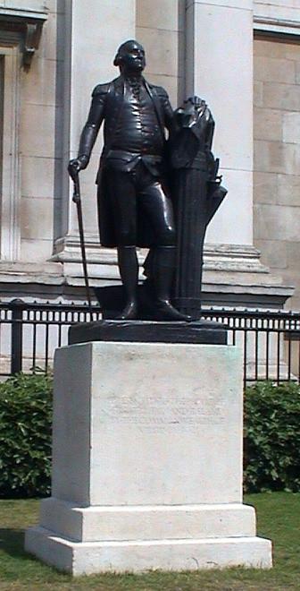 George Washington statue in Trafalgar Square