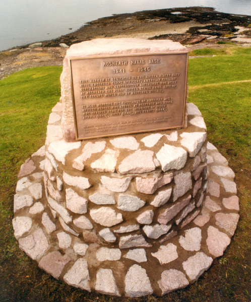 Rosneath Naval Base memorial plaque