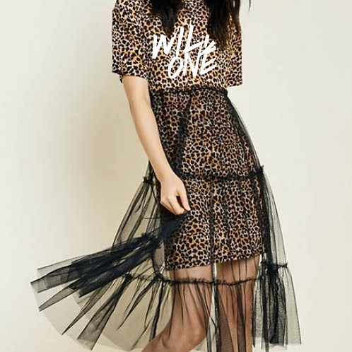 Exclusive Wild One Tulle Lace T-Shirt Dress