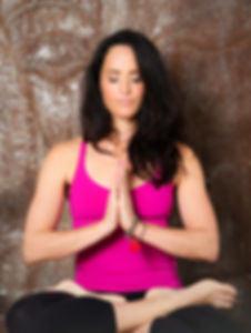 Juliet Kaska meditating at JK Zen Fitness