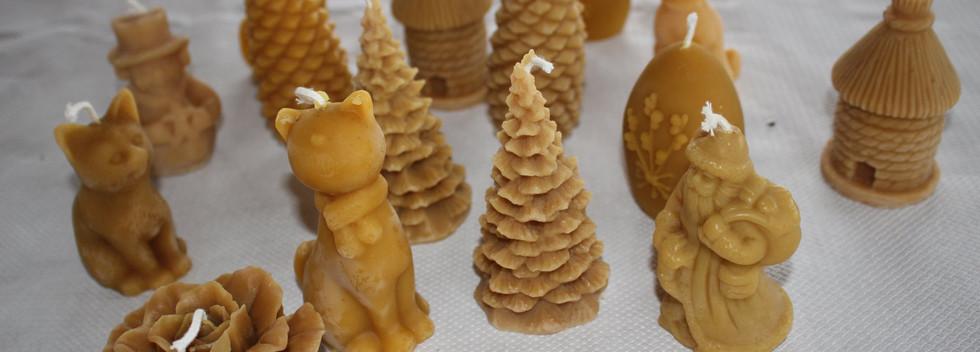Bougie artisanale à la cire d'abeille - Gwenn