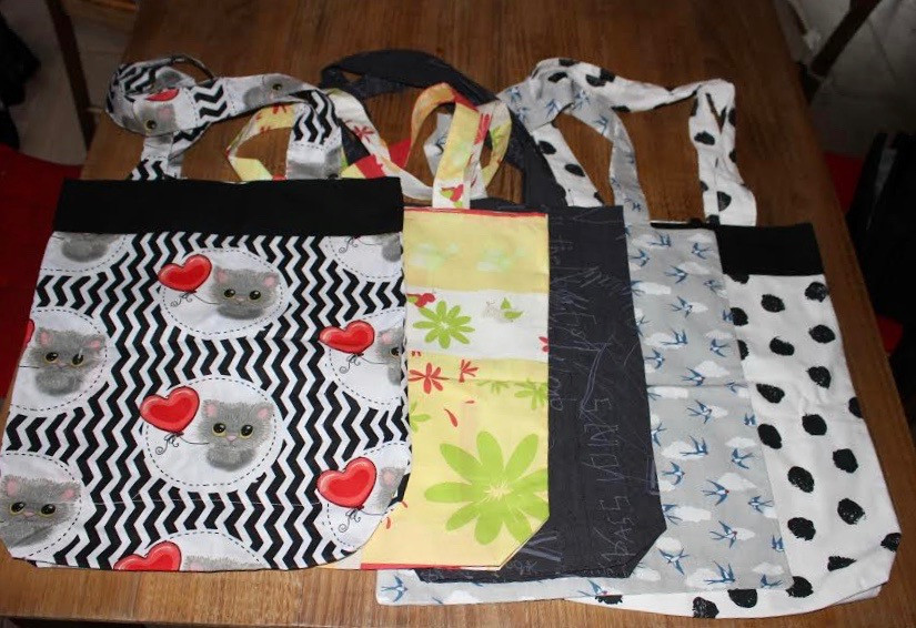 Sac en tissu grande taille avec 1 pochette intérieure - Annette L.D