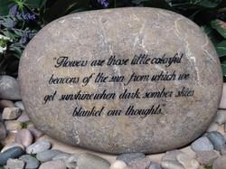 Memorial stone quote