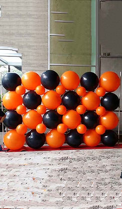 exploding balloon wall effect rental