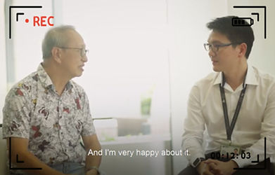 corporate video production video editing for interview speech singapore