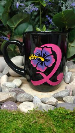 Cancer Ribbon On Ceramic Mug