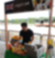 Burger live station rental catering