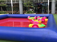 inflatable pool paddle boat zorb kids fun rent singapore cheap