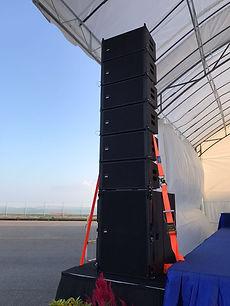 line array sound system rental