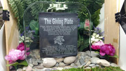 The Giving Plate Etched Glass