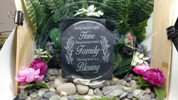 Home Family Blessing Plate Etched