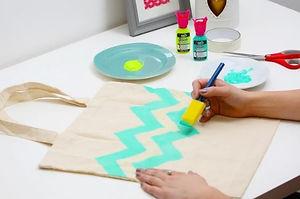 virtual tote bag painting workshop virtual art and craft workshop