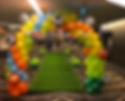 World Sport Theme Arch and Carpet Walkwa
