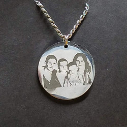 Family Portrait on Pendent Etching Etche