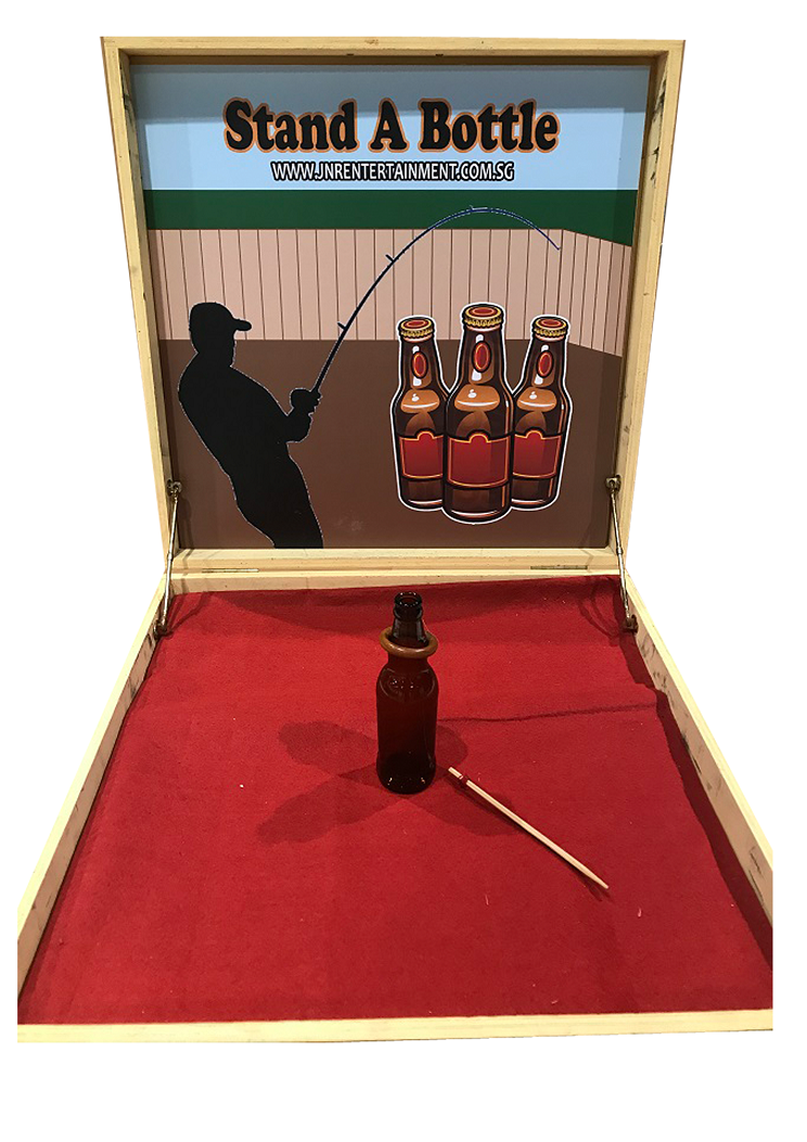 Stand a Bottle Carnival Game Stall