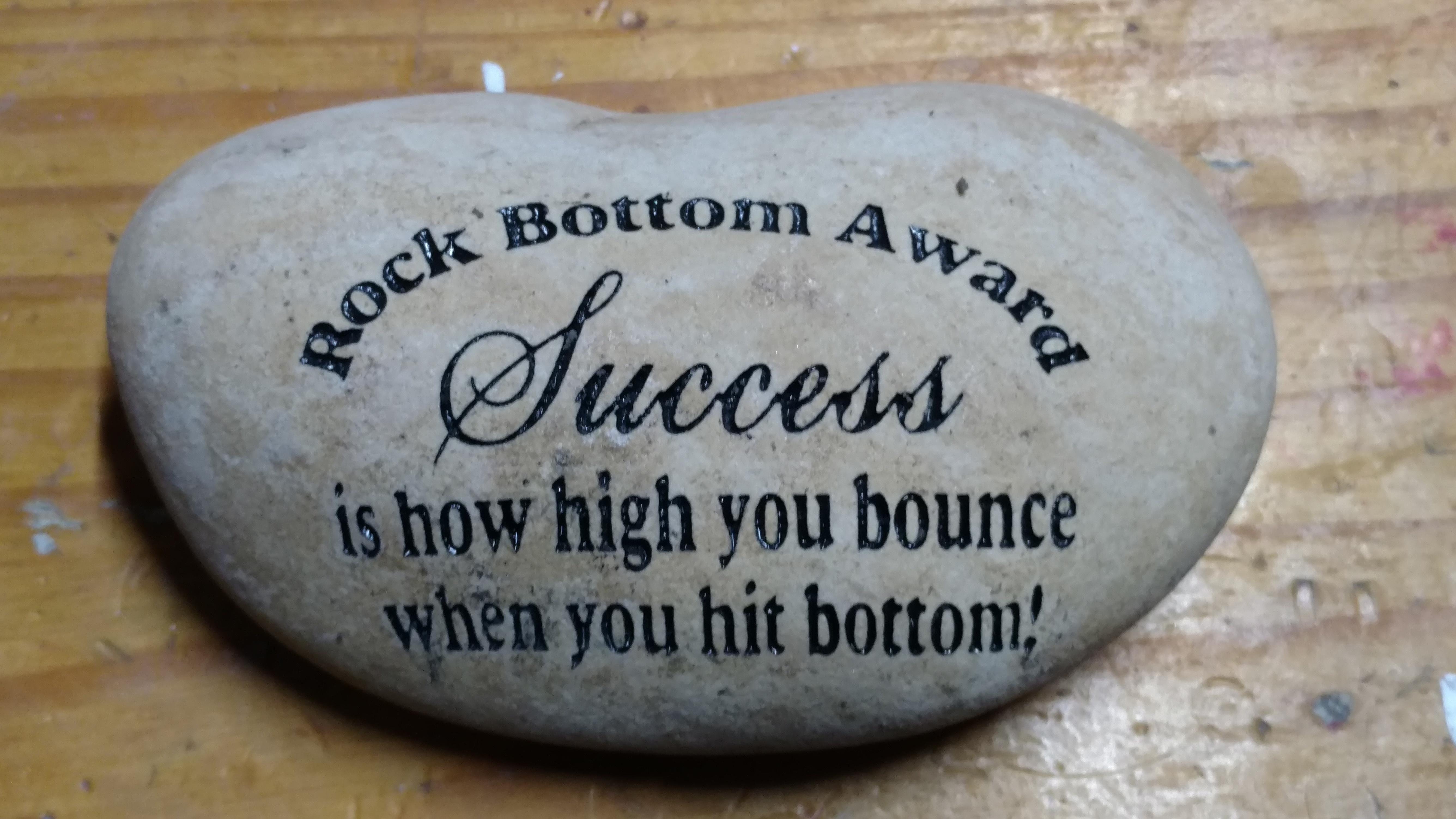 Rock Bottom Award Success Etched Roc