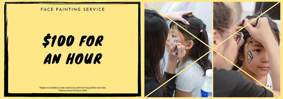 face painting promo cheap singapore jnr entertainment