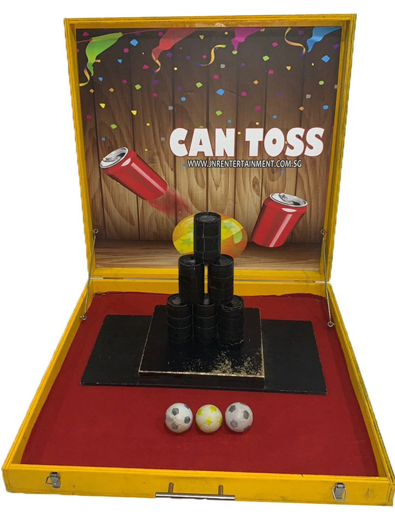 Can Toss Carnival Game Stall