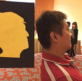 Silhouette Cutting fringe activity roving talent entertainment best singapore kids birthday party corporate event company