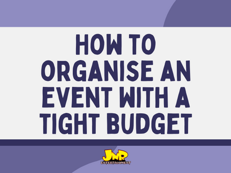 How To Organise an Event with a Tight Budget