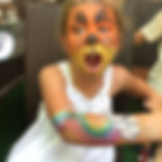 neon face painting service singapore