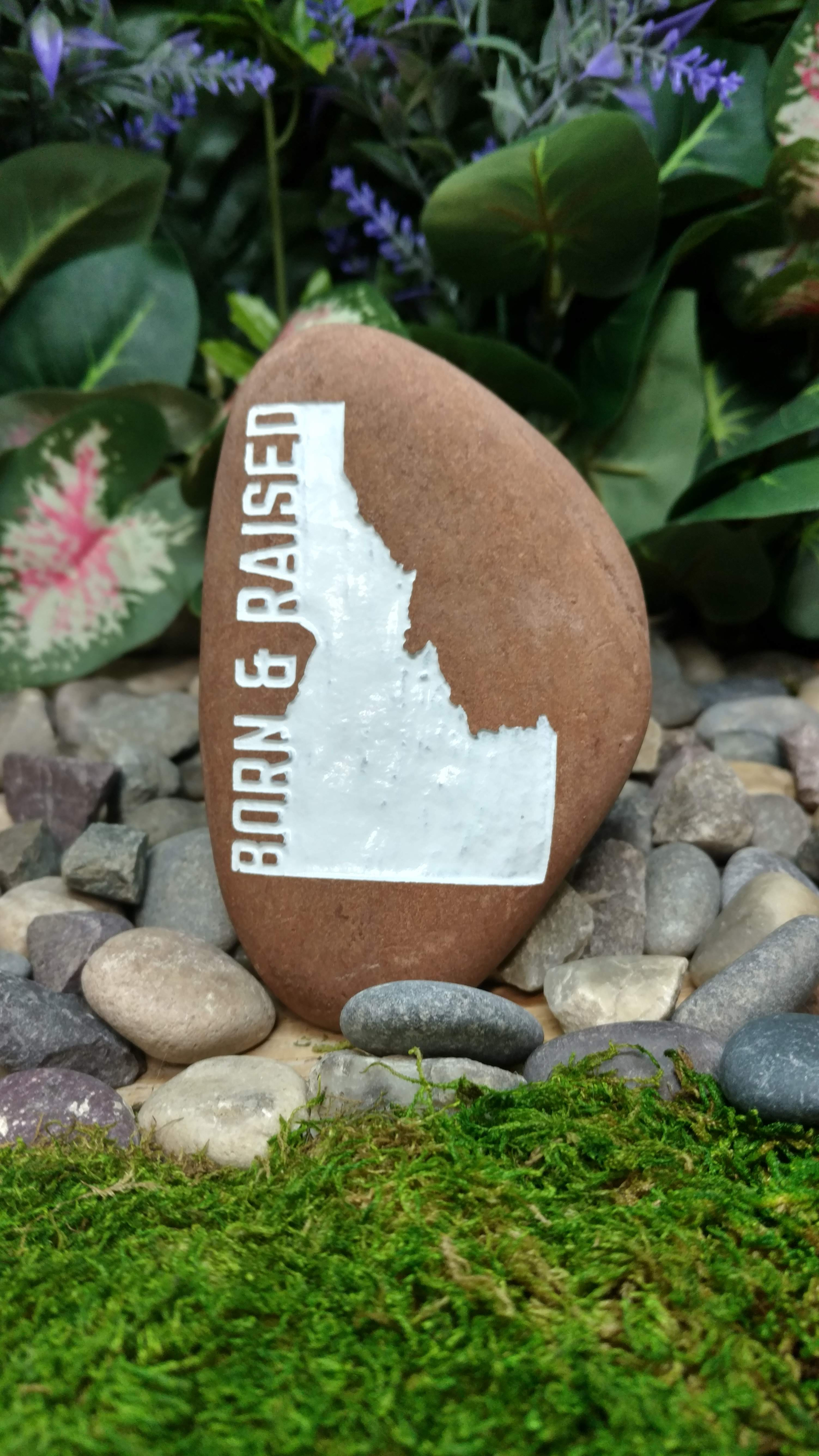 Born And Raised Idaho Etched Engraved Ro