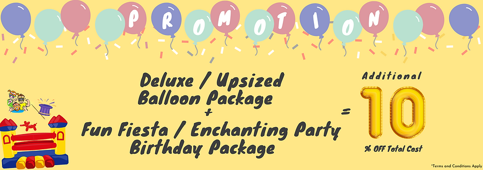 Balloon Decoration Package Promotion