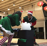 Xmas Bubble Show fringe activity roving talent entertainment best singapore kids birthday party corporate event company