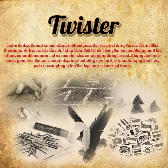 Twister Retro Carnival Game Stall