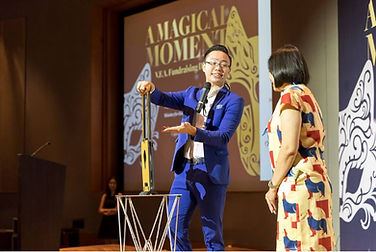 corporate magic show stage performance magician