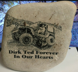Memorial Rock Stone A & W Engraving and