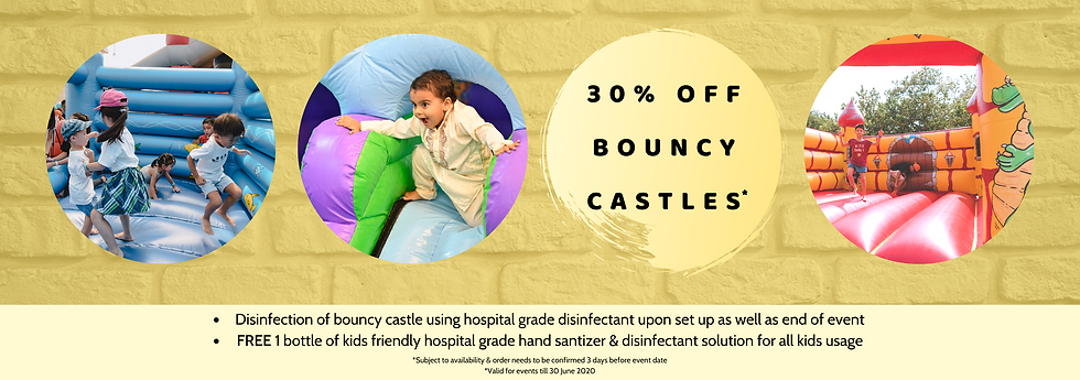Bouncy castle promo cheap singapore jnr entertainment