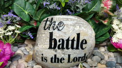 The Battle is the Lords Rock Etching Etc