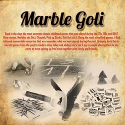 Marble Goli Retro Carnival Game Stall