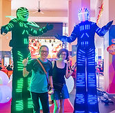 led stilt walker fringe activity roving talent entertainment best singapore kids birthday party corporate event company