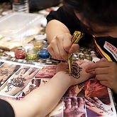 Henna Painting fringe activity roving talent entertainment best singapore kids birthday party corporate event company