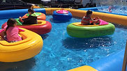 bumper boat with inflatables pool rental inspired bumper car