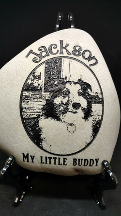 Pet Memorial Photo Dog Etching Etched