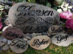 Family Name Rock with small stones