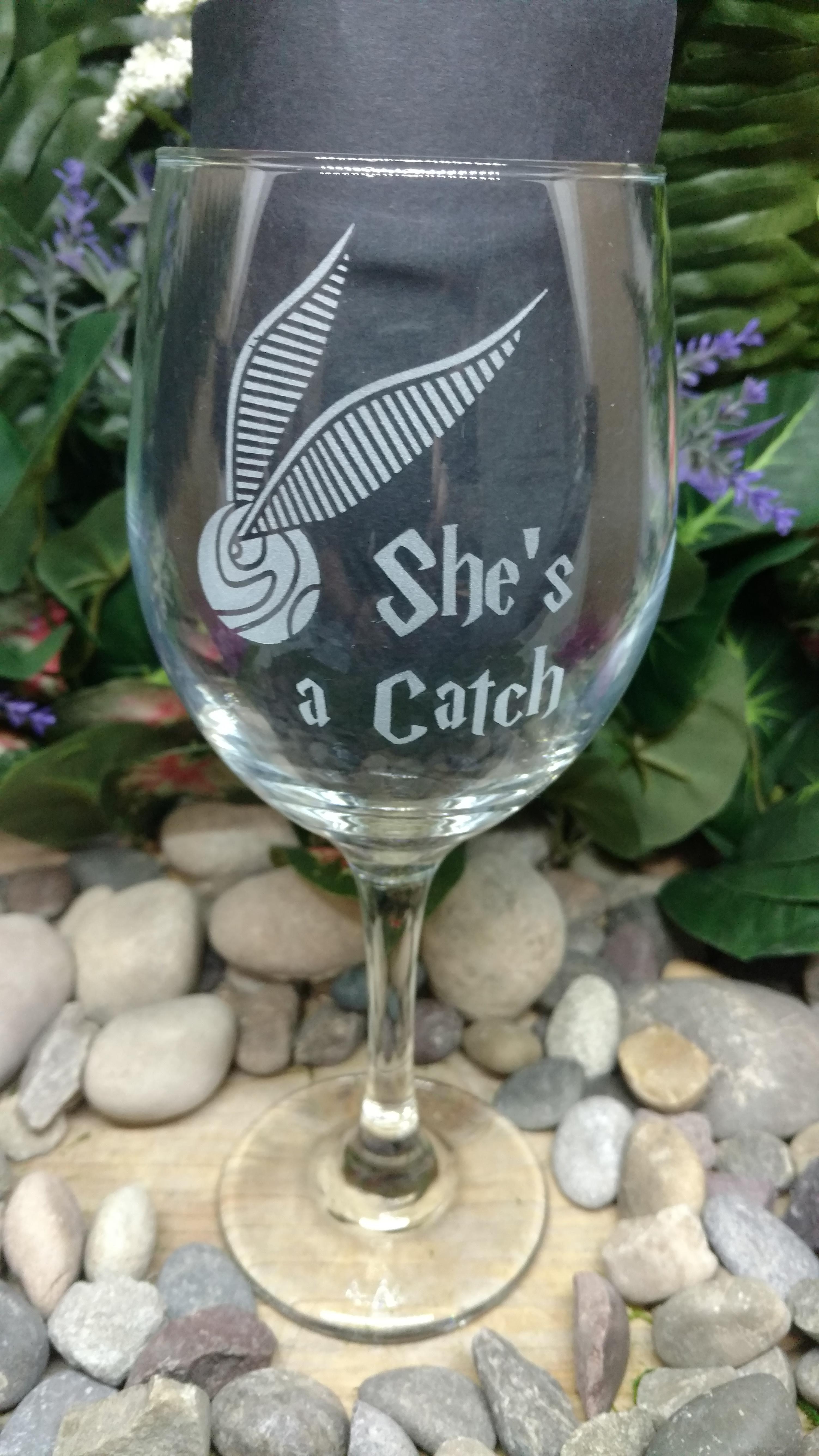 She's A Catch HP Harry Potter Wine G