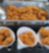 Singapore free flow popcorn chicken fried live station booth