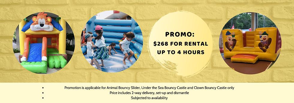 bouncy castle rental promotion singapore
