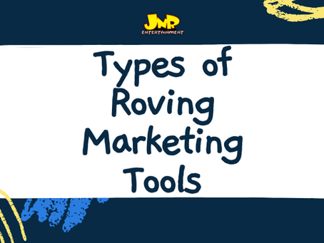 Types of Roving Marketing Tools
