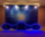 2 tier photo wall backdrop rental singapore led spaceship