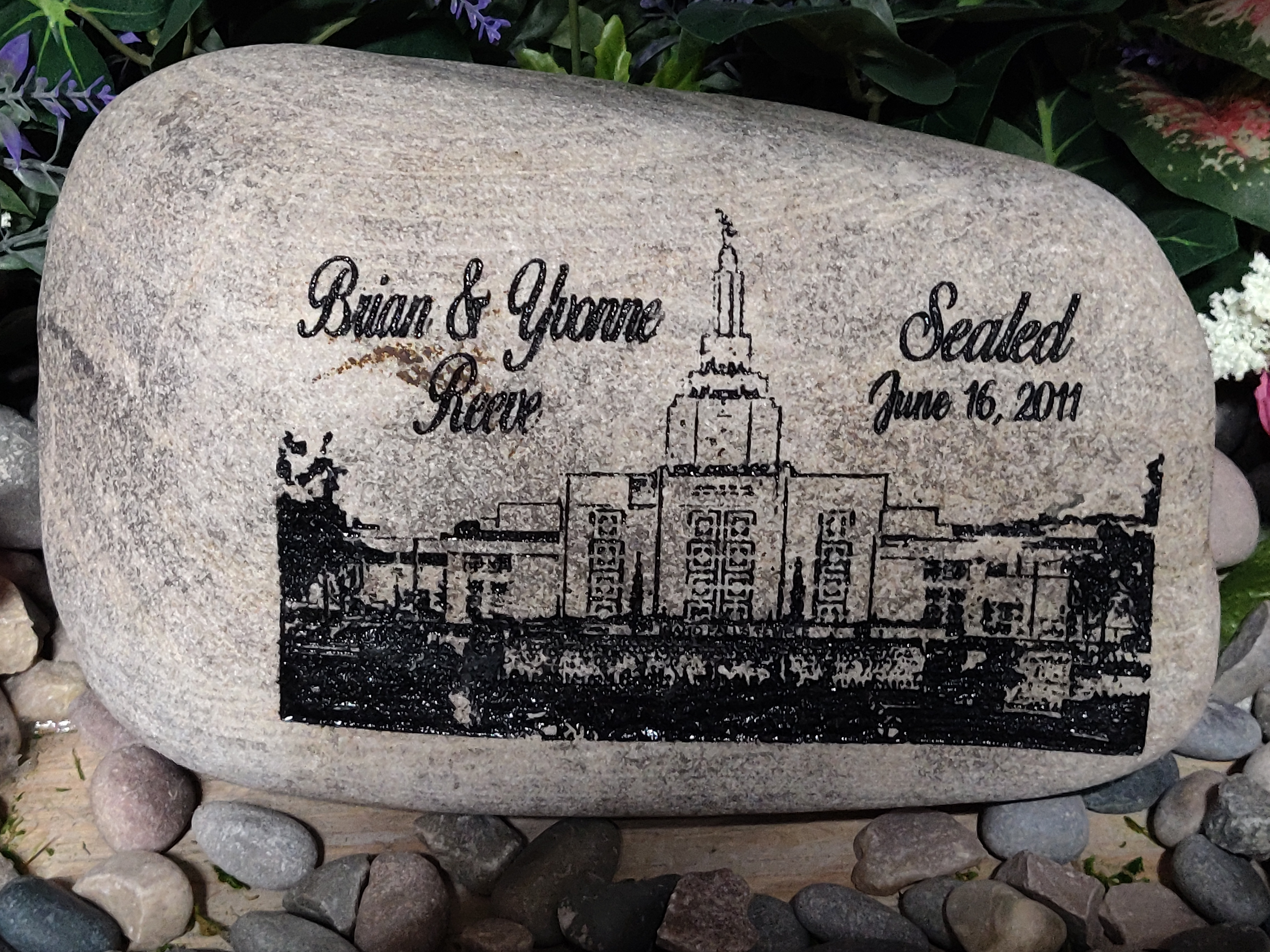 LDS Mormon Sealed Date and Name Chur