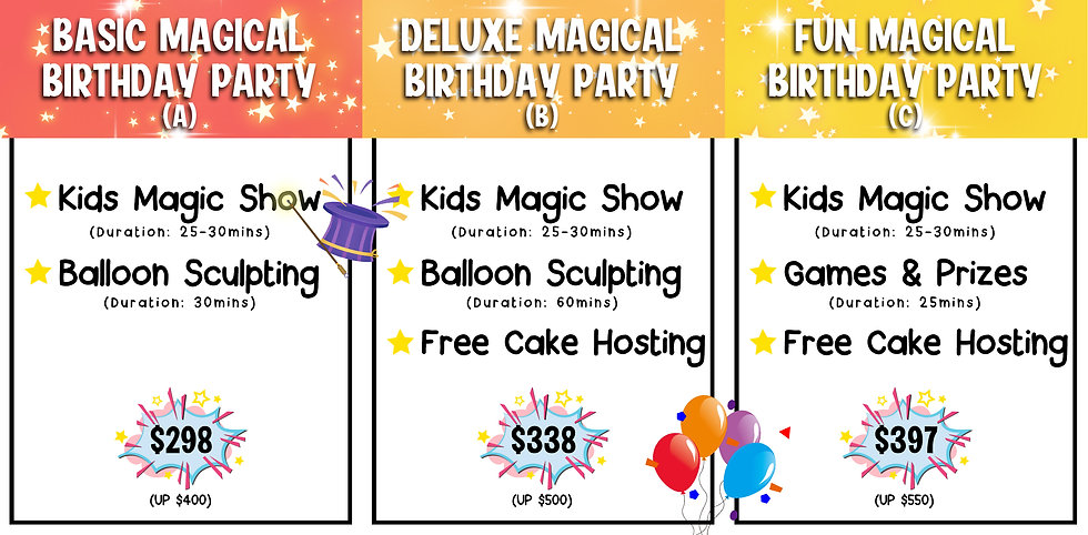 kids birthday party packages best kids party entertainment kids magic show jnr entertainment